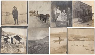 Early Alaskan photograph album with images rural, small town, and indigenous life in Alaska and...