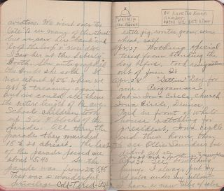 World War I diary kept by a young, wide-eyed independent woman who left her home in Iowa for a Civil Service job in Washington, DC