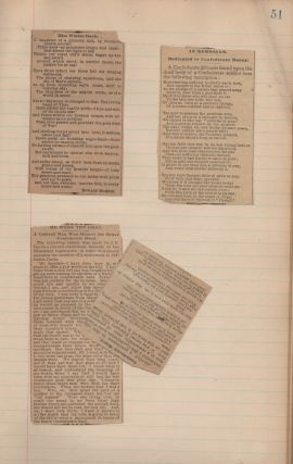"""Lost Cause"" post-Civil War commonplace-scrap book kept by a Virginia woman"