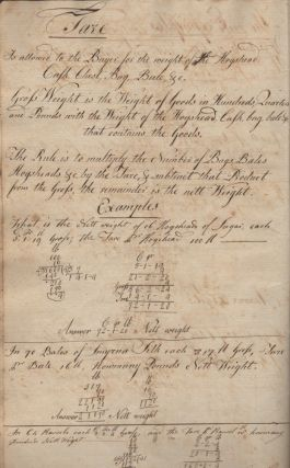 "18th-Century Ciphering Book – ""Asa Sherman, His Book"""