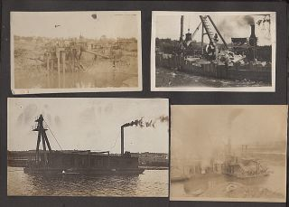 PHOTOGRAPH ALBUM RECORDING EARLY 20TH CONSTRUCTION PROJECTS ALONG THE ERIE CANAL. Possibly Daniel...