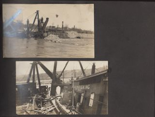 Photograph album documenting improvement projects along the Erie Canal during the construction of the New York State Barge Canal system