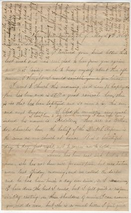 Detailed letter describing the transport of fresh troops and wounded by steamers on the...