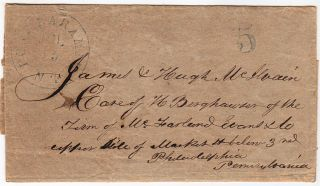 Postal cover from Fort Laramie, N.T (Nebraska Territory, now Wyoming) sent by the naturalist,...