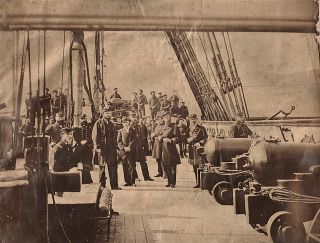 An exceptional album filled with over 50 large albumin images documenting post-Civil War cruises...