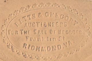 Advertising Envelope for a pair of Richmond slave traders along with a proof copy of a $20...