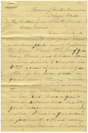 Letter from a civilian Christian Commission clergyman following the Union Army's Bristoe...