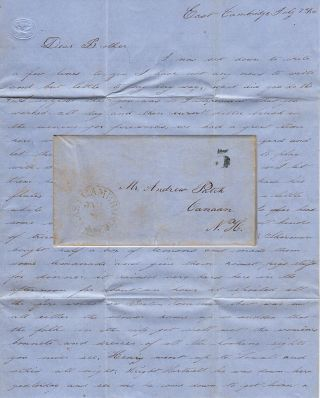 A detailed letter from a guard at East Cambridge Jail (which was made infamous by Dorthea Dix...