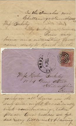 Detailed letter providing a first-hand description of the gallant performance of the 93rd Ohio...