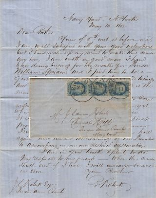 Letter send from a young petty officer assuring his brother that he was going not going to renege...