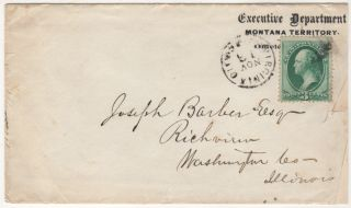 Letter from the Territorial Governor of Montana encouraging a man from Illinois to emigrate and start a cattle or sheep ranch