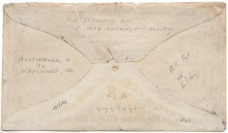 A nice example of J. Valentines famous anti-slavery propaganda envelope postally used within the United States