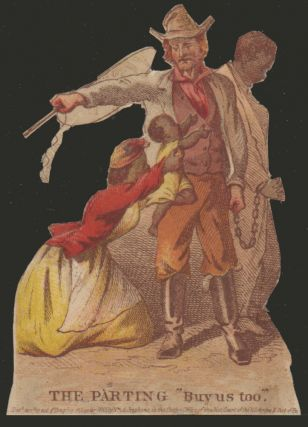 Four chromolithographic vignettes from the album card set, Journey of a Slave from the Plantation to the Battlefield.