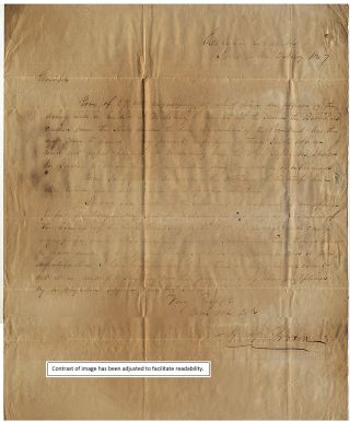 [GOVERNOR ALBERT GALLATIN BROWN COORDINATES THE INTEGRATION OF VOLUNTEER BATTALION OF MISSISSIPPI RIFLEMEN INTO THE ARMY OF THE WEST DURING THE MEXICAN-AMERICAN WAR]; A letter from Governor Brown to General Brooke arranging for Mississippi volunteers to be mustered into federal service for the war in Mexico