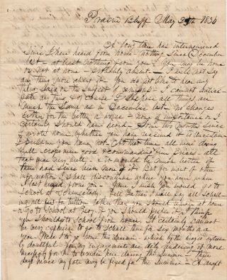 [AN EARLY ALABAMA SETTLER EXPRESSES OUTRAGE THAT UNSCRUPULUS WHITE LAND SPECULATORS HAVE CHEATED MANY CREEKS OUT OF THEIR LAND BUT RESOLVES HIMSELF TO GOING TO WAR AGAINST THE TRIBE SINCE IT HAS INDISCRIMINATELY ATTACKED ALL WHITES INSTEAD OF THOSE RESPONSIBLE FOR THEIR SUFFERING]; Letter from an Alabama merchant to his sister in New York