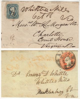 TURNED MAIL FROM A PROMINENT VIRGINIA FAMILY EARLY IN THE CIVIL WAR]; Envelope that was mailed...