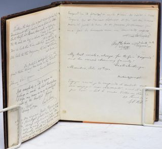 """A """"WHO'S WHO"""" GUESTBOOK OF PASSENGERS THAT VISITED OR SAILED ABOARD ISAAC STERN'S LEGENDARY STEAM YACHT VIRGINIA; Guest Book of the Virginia, owned by New York's legendary department store tycoon, Isaac Stern, along with Ten Thousand Miles in a Yacht by Richard Arthur which chronicled its trip up the Amazon River in 1911"""