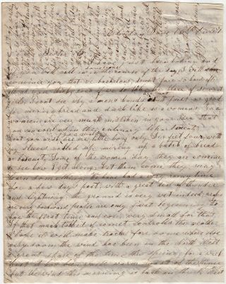 "AN ABOLISIONIST MINNESOTA PIONEER REPORTS HE HAS ""PREEMPTIVELY"" PURCHASED HIS ILLEGALLY SQUATTED UPON HOMESTEAD - LETTER FROM ONE OF THE FIRST FEW SETTLERS IN STEELE COUNTY; A Minnesota homesteader's letter referencing local politics, the territory's constitution, community growth, construction of a school, preemptive purchasing, prices of goods, and bachelor life"