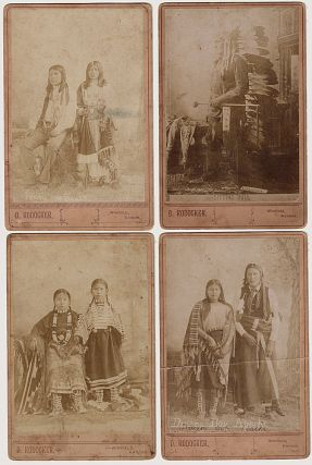 CABINET CARD PHOTOGRAPHS OF SITTING BULL, FENNO, AND DINERO BOY; Four cabinet card photographs of...