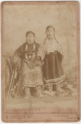 CABINET CARD PHOTOGRAPHS OF SITTING BULL, FENNO, AND DINERO BOY; Four cabinet card photographs of Native Americans, including Sitting Bull, sold by the western photographer, D. [David] Rodocker