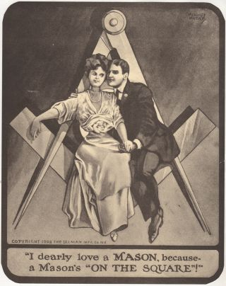 """I LOVE TO LOVE A MASON""; Three different Masonic promotional posters"