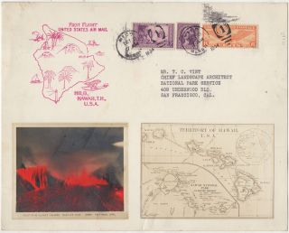SOUVENIR OF THE ERUPTION OF KILAEUA VOLCANO FROM THE HAWAII NATIONAL PARK'S OFFICIAL...