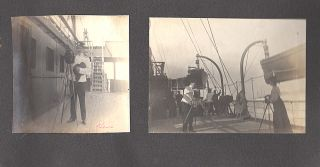 "TEEN ROMANCE IN THE RUSSO-JAPANESE WAR - ""DEAREST TOTOCHKA! . . . 10,000 OF KISSES."" A high school sophomore's archive of photographs and mementos from her romantic relationship with an officer from a Russian warship, the Lena, that violated U.S. neutrality during the Russo-Japanese War by docking at San Francisco"