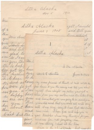 AFFECTIONATE TLINGIT FAMILY LETTERS SENT TO A COUPLE WHO FOUNDED A SMALL MISSIONARY SCHOOL THAT...