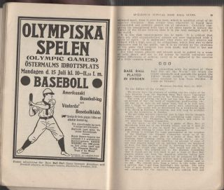 "Spalding's Official Base Ball (Baseball) Guide: Thirty-Seventh Year: 1913, Spalding's Athletic Library Group 1. No. 1; ""The Last World Series . . . was the greatest . . . ever been played in the history of the National Pastime."""