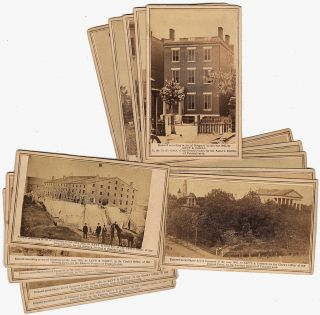 Collection of 15 different rare CDV photographs: Views of the Rebel Capital and its Environs....