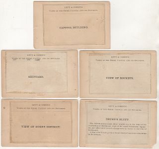 Collection of 15 different rare CDV photographs: Views of the Rebel Capital and its Environs