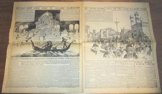 """""""THE GREATEST OF WORLD'S FAIRS IMPRESSIVELY OPENED"""" The St. Louis Post-Dispatch coverage of """"Opening Day"""" at the Louisiana Purchase Exposition or St. Louis World's Fair"""