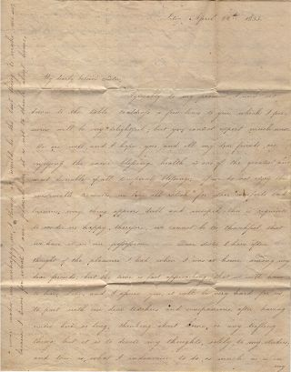 """""""I HAVE FINISHED MY RIBBON PIECE [AND] WILL SOON BEGIN WORK AT MY LACE. . .. TWO HOURS ON MONDAY AND WEDNESDAY I EMPLOY ATTENDING TO ORTHOGRAPHY, ARITHMETIC, AND SEWING."""" Two letters from Lititz Seminary (now Linden Hall) the oldest continuously operating girls' boarding and day school in the United States."""