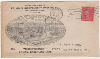 """""""SAUSAGE SHIPPED BY LOCAL FREIGHT AT BUYERS RISK OF SPOILAGE"""" – An attractive advertising cover for one of the largest """"independent"""" meat packing companies in the United States"""