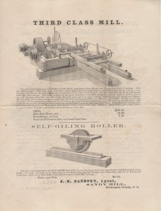 """""""THE GREATEST MONEY-MAKING AND MAN-SAVING MACHINE EVER INTRODUCED INTO A SAW MILL"""" Advertising packet for Foster's Log Canting Machine and other Saw Mill Equipment"""