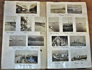 """""""THAT OLD NAVY SCRAP BOOK OF MINE; IT'S CRAMMED FULL OF PICTURES AND HAPPENINGS OLD, OF THE DAYS THAT ARE NOW LEFT BEHIND."""" An extensive sailor's archive (a huge scrapbook, hundreds of photographs, and five oral history tapes) documenting his pre-WWII service on the flagship of the U. S. Asiatic Fleet"""