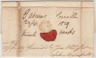 CRONYISM IN THE EARLY REPUBLIC – A letter and shipping document from the American Legation in London to the New York Port Collector regarding the delivery of a trunk of books for the Secretary of the Treasury
