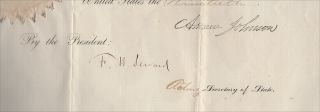 Civil War Presidential Pardon by Andrew Johnson for Perry M. Shipley