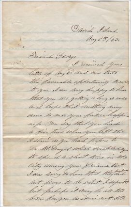 """""""IT IS NOT THE PLEASANTEST OCCUPATION TO BE WAITING UPPON THOS MEN THAT HAVE CAUSED OUR COUNTRY FOR TO BLEED. . .. WE HAVE 3,000 REBS ON THE ISLAND [AND] MY WARD IS FILLED UP."""" Letter from one Union wardmaster to another expressing his dissatisfaction of having to care for Confederate soldiers who were wounded at Gettysburg"""