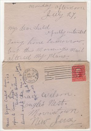 """""""MY ALUMNAE PIN CAME THIS MORNING, IT IS MY GRADUATION PRESENT FROM CLAUDE."""" An archive of letters and ephemera related to Dr. Grace Flanders Wilson, an 1899 graduate of the New York Medical College and Hospital for Women (NYMCHW)"""