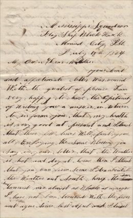 """""""THE FLEET ARE NEAR READY TO GIVE VICKSBURG A TRY."""" A significant archive of letters and ephemera from a Civil War gunboat sailor who served on Commodore Porter's flagship and participated in the siege of Vicksburg and the Red River Campaign"""