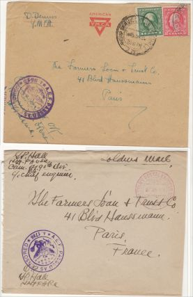 AN AMERICAN TRUST COMPANY SERVES THE NEEDS OF THE AMERICAN EXPEDITIONARY FORCE (AEF) DURING WORLD WAR ONE. An exceptional postal history collection of intra-theater WWI AEF covers