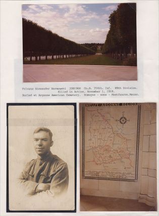 """""""DEEPLY REGRET TO INFORM YOU THAT IT IS OFFICIALLY REPORTED THAT PRIVATE ALEXANDER WARKOWSKI INFANTRY WAS SEVERELY WOUND IN ACTION NOVEMBER 1"""" Mother's archive of World War I letters from her son who was Killed in Action during the Meuse-Argonne Offensive"""